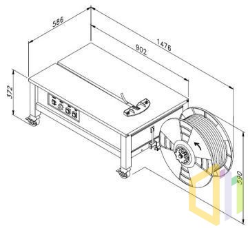 Wiązarka półautomatyczna TP-202L