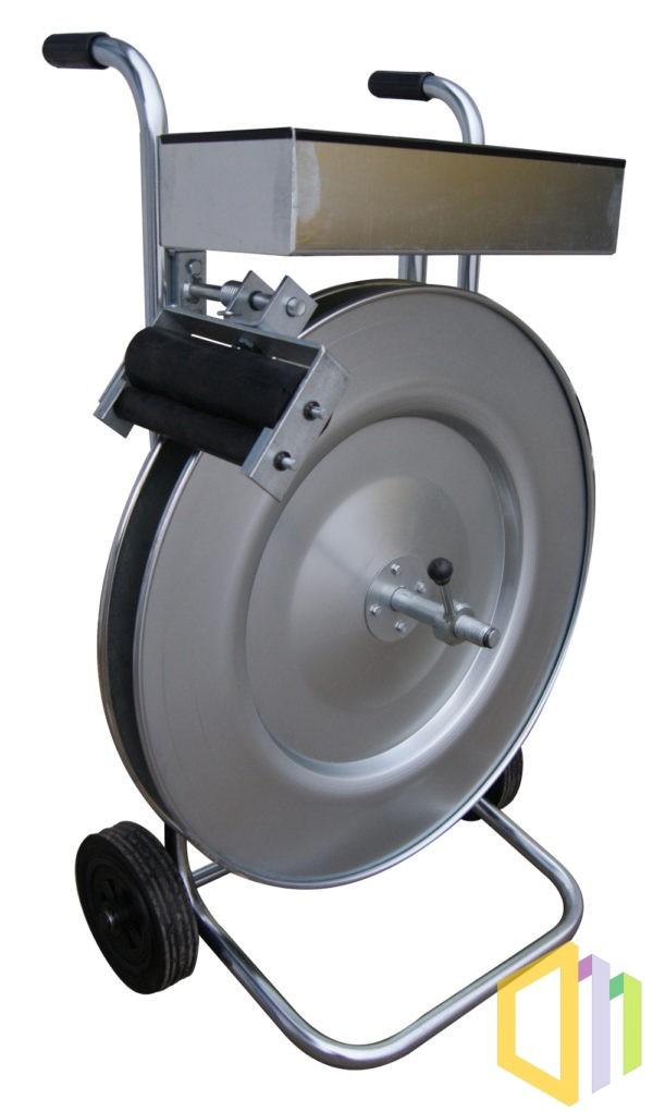 Wózek odwijacz (dyspenser) do taśmy PP/PET 406 mm w wersji ocynkowanej