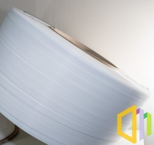Taśma polipropylenowa (PP) EBS 16080 D 1,5 km biała