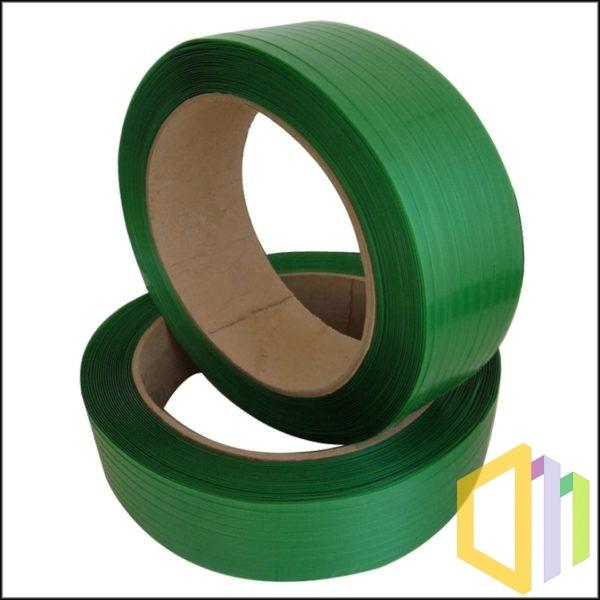 Taśma poliestrowa (PET) karbowana 19X1,00 mm zielona 1200 M 7350 N